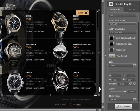 online shop template flash