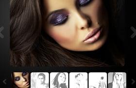 model photo portfolio with dark background