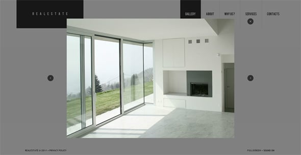 Real Estate Flash CMS template with an Interactive Photo Gallery