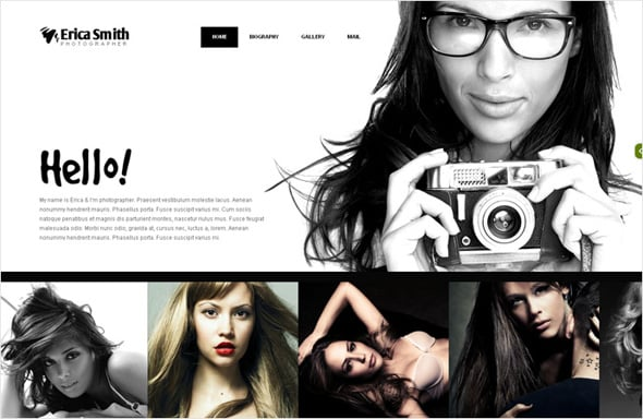 Portfolio Website Template for Photographers