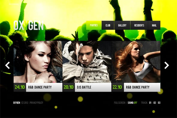 Night Club Website Design