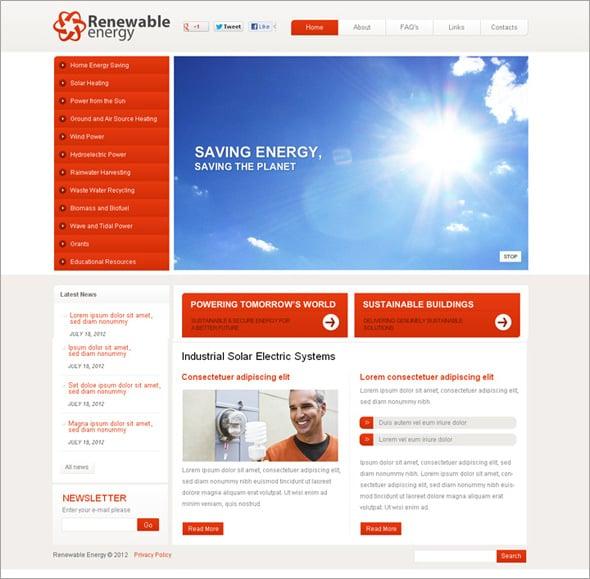 Alternative Energy Flash Template
