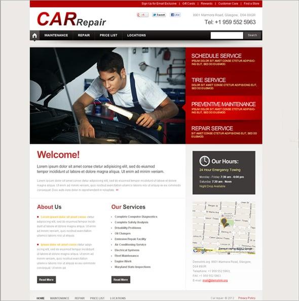 Cars Flash CMS Templates