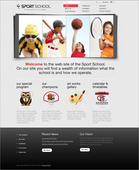 Sport School Flash Template