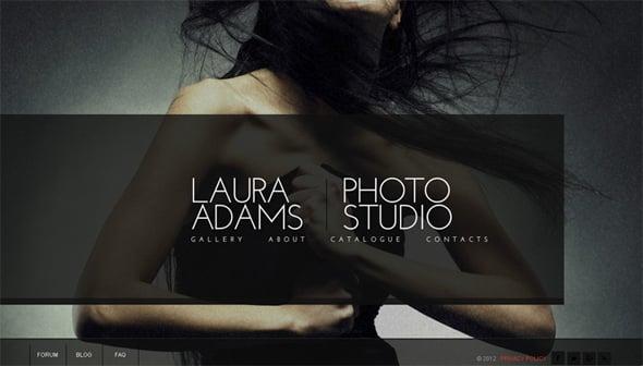 Elegant Flash Photo Portfolio Template