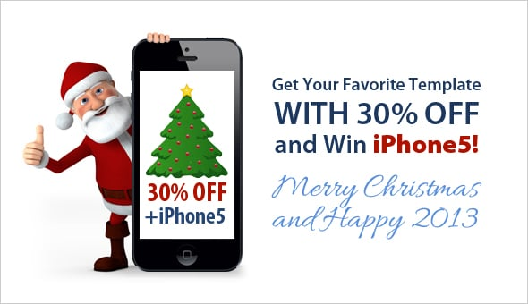 Get iPhone 5 from MotoCMS and buy templates with 30% OFF