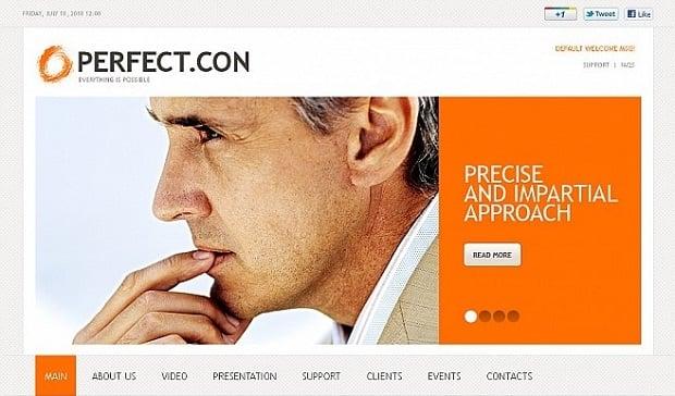 MotoCMS business website template