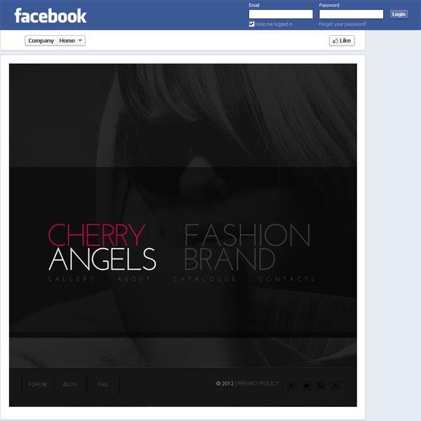 Дизайн странички модного бренда для Facebook