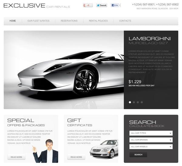 Сайт для автосалона