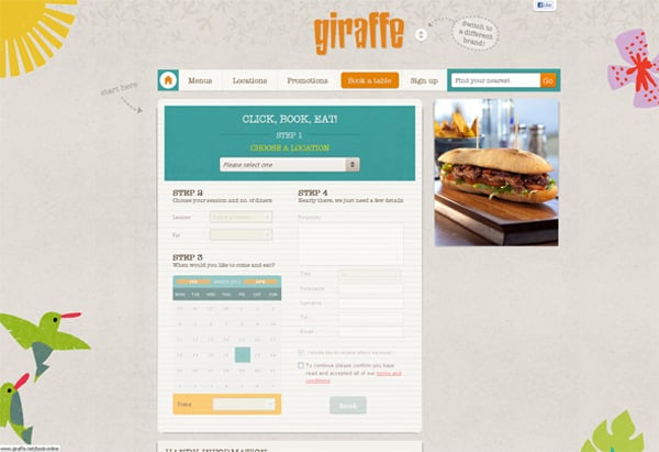 Сайт ресторана с возможностью онлайн-заказов