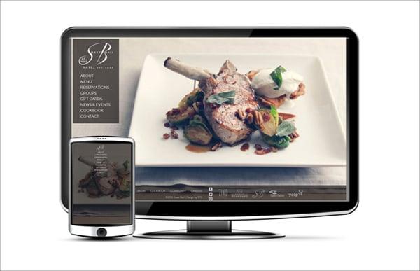 Сайт ресторана с мобильной версией