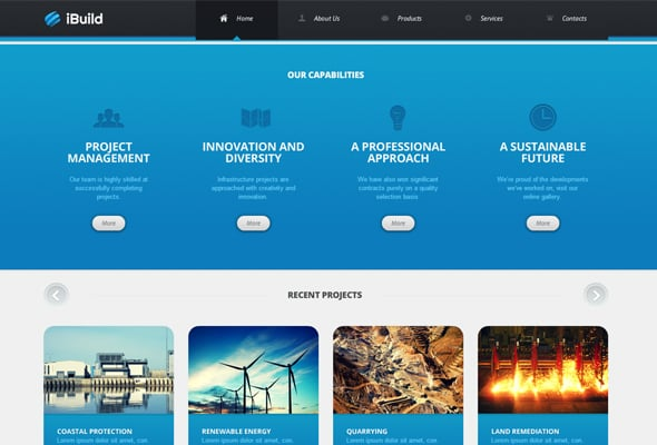 Blue - Color Combination in Web Design
