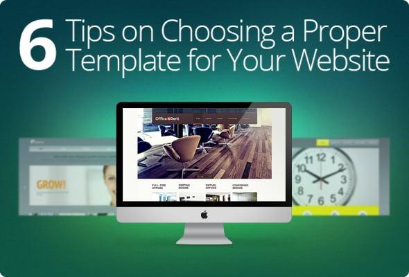 Choosing a Proper Website Template