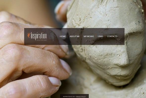 Website Template for an Artist's Portfolio