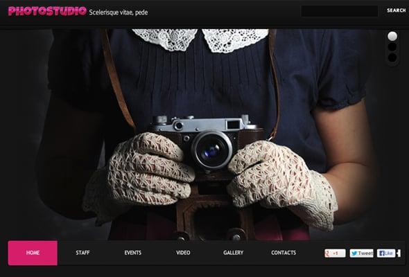 A Photographer's Portfolio Website Template