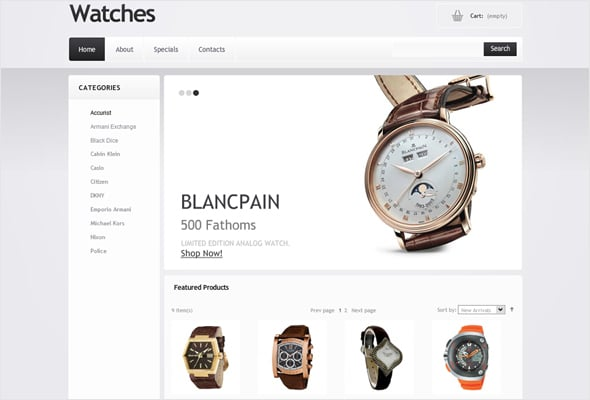Clean Style E-commerce Website Design