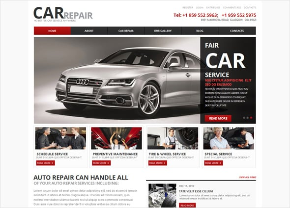 Car Repair Business Website Template