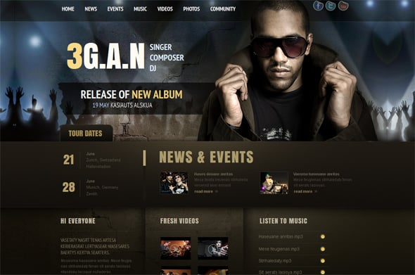 Grunge Website Template