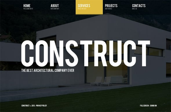 Architecture Website Template in Realistic Style