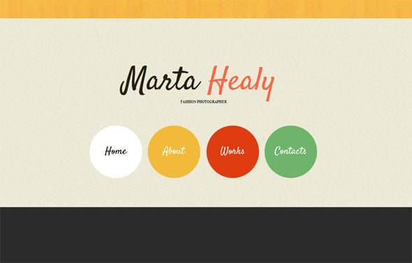 Typography Based Website Template