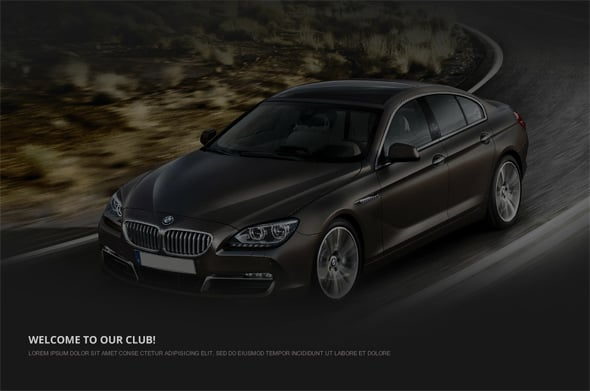 Website Template to Present Automotive Business