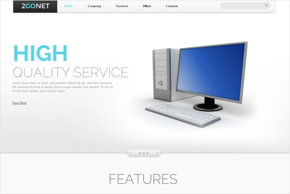 Less is More Website Template