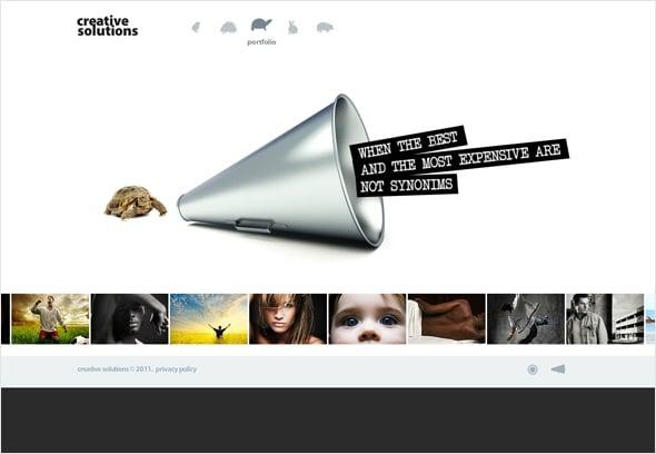 White Website Example