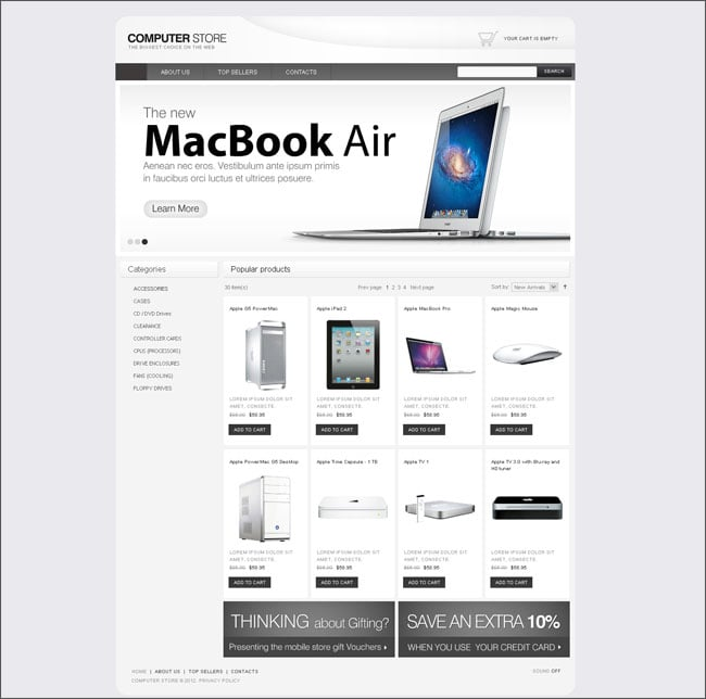 Computer Store eCommerce Website Template