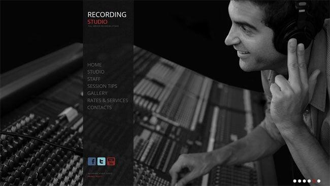Recording Studio/Record Label Website Template
