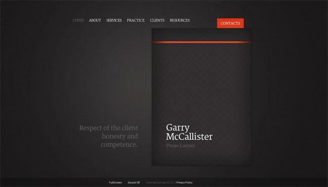 Lawyer's Website Template with Flip Book Effect