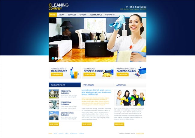 Cleaning/Maintenance Company Website Template