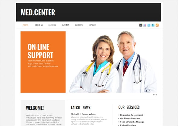 Medical Center Website Template