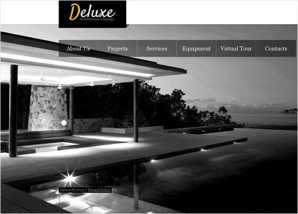 Futuristic Architectural Website Template