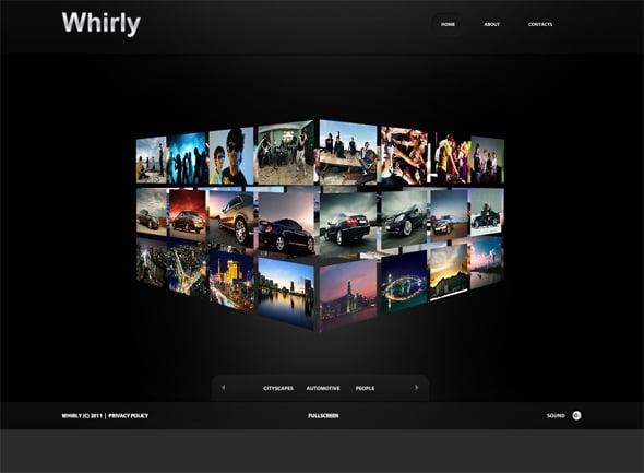 Futuristic Cube Gallery Website Template