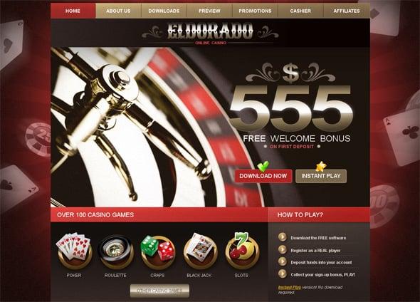 Online Casino Website Template