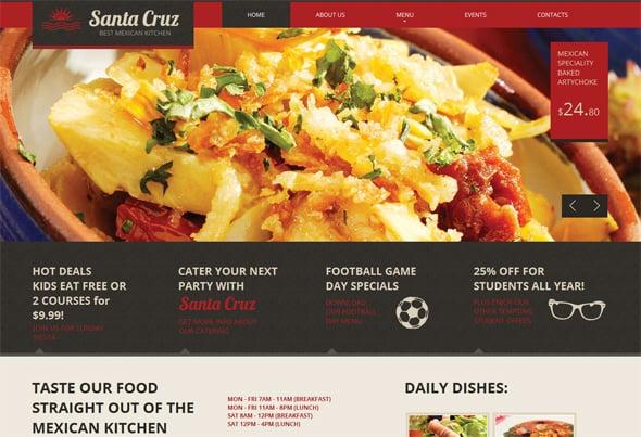 Futuristic Restaurant Website Template