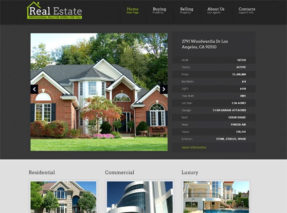 Interior Web Design Template