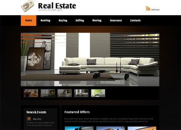 Real Estate Agent Website Design