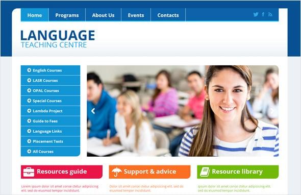 Language Teaching Centre Website Template