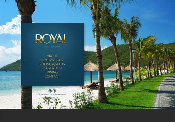 Hotel Website Template with Beautiful Color Scheme