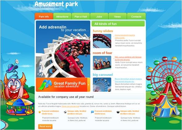 Multicolored Amusing Child Website Template