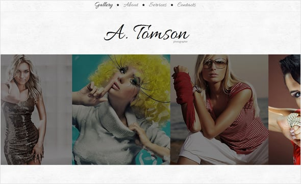 Photo Website Template with a Cool Typography