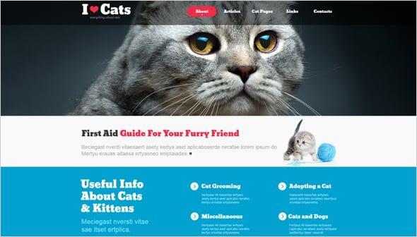 Cats Website Design