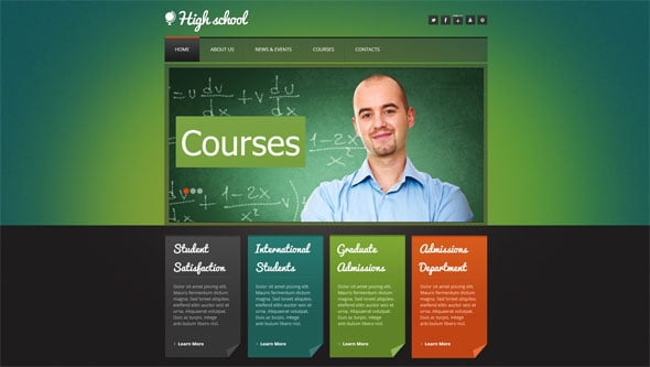 Educat Web Design in Green