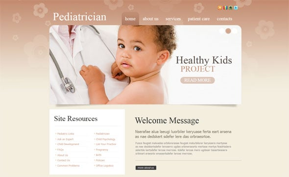 Website Template for Pediatricians