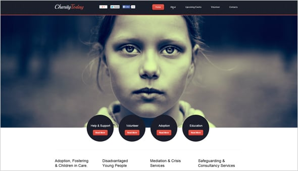 Website Template for Children Charity