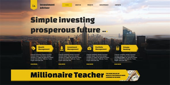 Website template for Investment Consulting