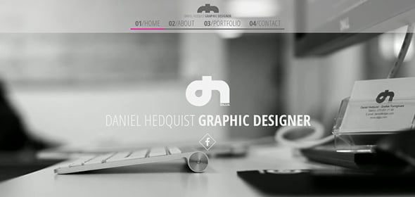 Daniel Hedquist Website for Web Designer