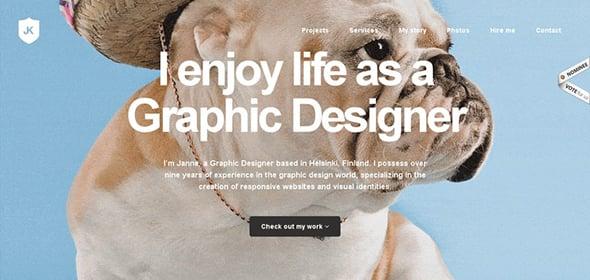 Website for Web Designer Janne Koivistoinen