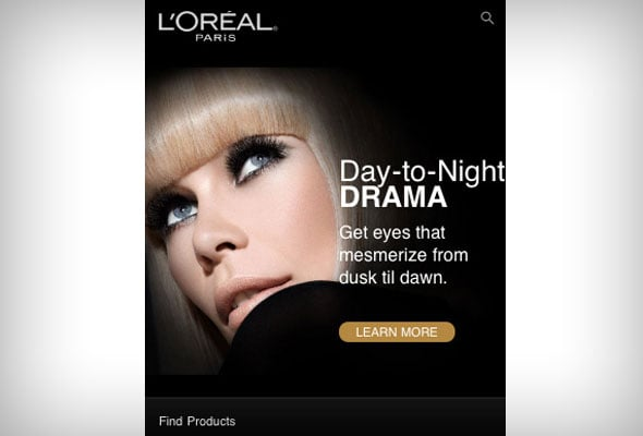 Loreal Paris Mobile eCommerce Website